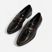SPECIAL EDITION LEATHER TASSEL LOAFERS DETAILS