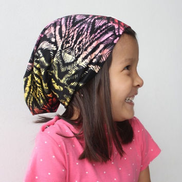 Magnetic Pattern Slouchy Beanie