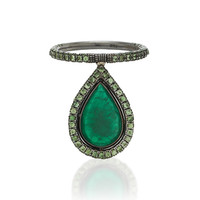 M'O Exclusive One-Of-A-Kind Emerald Pear Flip Ring | Moda Operandi