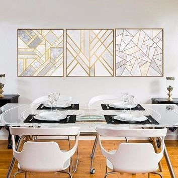 Nordic Modern Painting Canvas Wall Art Electronics Abstract Gold Pictures Backdrop Sitting Room Corridor Home Decor