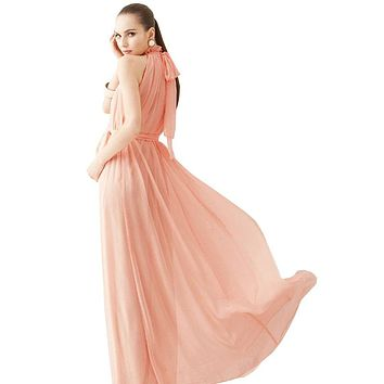Women Summer Bohemian Style Long Chiffon Dress Ladies Clothes Pregnant Maternity Dresses Maternidade Pregnancy Clothing