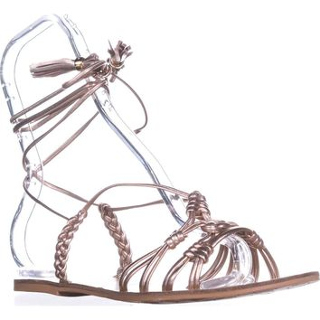 Nanette Lepore June Gladiator Sandals, Rose Gold, 9 US