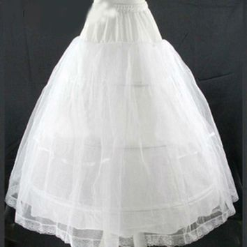 A line wedding petticoat slip adjustable for waist wedding underskirt petticoat 3 hoop