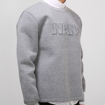 Mens Wang Neoprene Sweatshirt at Fabrixquare