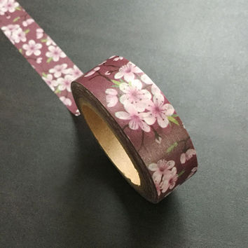 Washi Tape / Japan Sticky Adhesive Tape / Decorative Masking Tape Scrapbooking Tools Favor Stationery/ Sakura 10m m17