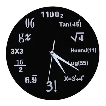Creative Mathematical Formula Wall Clock, Acrylic, Large Mirror Modern Quartz Clocks