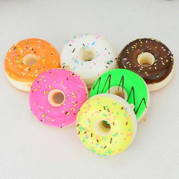 mini keychain doughnut donut cute key chain llaveros porte clef key ring gift for children SM6