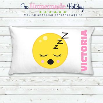 Sleep Emoji Personalized Pillowcase