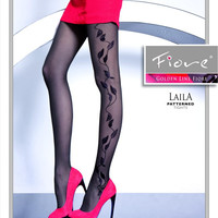 LAILA Patterned Tights 40 den Fiore Hosiery