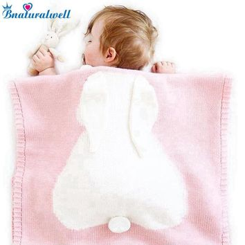 Bnaturalwell Baby Receiving Blankets Newborn Bedding items Infnat Boys girls Knitted Rabbit style Blanket Toddler gift BC001S