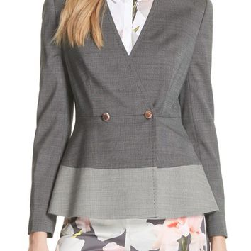 Ted Baker London Peplum Hem Jacket | Nordstrom