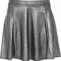 Silver metallic skater skirt - skirts - sale - women