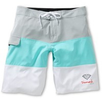 Diamond Supply Co Heather Grey, Blue, & White Board Shorts