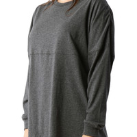 LE3NO PREMIUM Womens Mediumweight Oversized Long Sleeve Active T Shirt