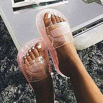 shosouvenir ?? Puma Fenty Rihanna Slides Crystal Shoes Female Slippers