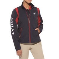 Ariat Ladies Team Softshell Jacket - Navy
