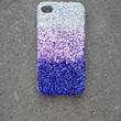 glitter iPhone 4 case glitter case ombre faded case iphone 5 case PURPLE OMBRÉ