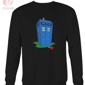 Tardis And The Wicked Witch Long Sweater