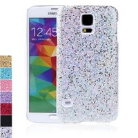 Docooler PC Hard Mobile Phone Glitter Back Case Shiny Bling Shell for Samsung Galaxy S5 i9600 (Silver)