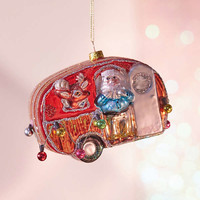 Santa's Camping Trailer Christmas Ornament | Urban Outfitters
