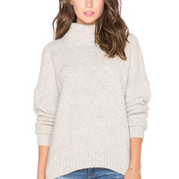 Twelfth Street By Cynthia Vincent Turtleneck Swing Sweater in Ice