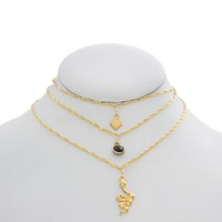 Shape Shifter Triple Layered Necklace