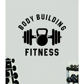 Body Building Fitness Gym Wall Decal Home Decor Bedroom Room Vinyl Sticker Art Teen Work Out Quote Beast Lift Strong Inspirational Motivational Health School