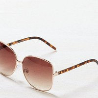AEO Women's Oversized Sunglasses (Gold)