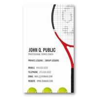 Tennis Coach Business Cards from Zazzle.com