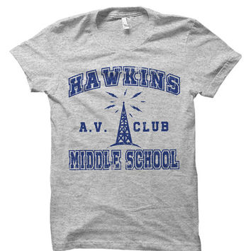 Stranger Things Hawkins Middle School AV Club Tv Series T-Shirt | Gift | Bday | Anniversary