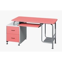 TECHNI MOBILI Wood Computer Desk in Pink and White