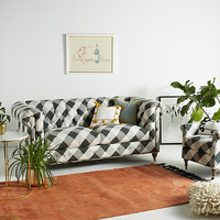 Buffalo Check Lyre Chesterfield Two-Cushion Sofa