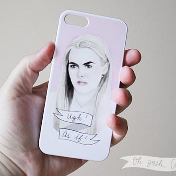 Cher Horowitz iPhone 5 5s Clueless phone case ''Ugh, as if!'' Alicia Silverstone