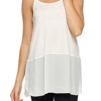 Sheer Madness Tank - White