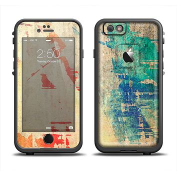 The Grunge Multicolor Textured Surface Apple iPhone 6 LifeProof Fre Case Skin Set