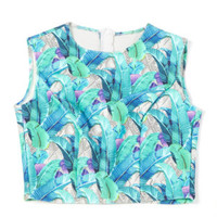 Basta Surf neoprene blue floral top