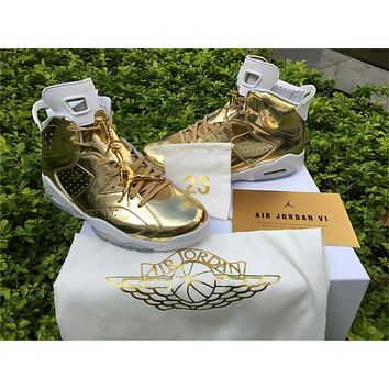 Air Jordan 6 Pinnacle Metallic Gold Shoes 36-47