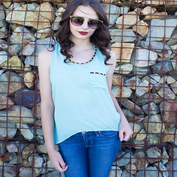 High-Low Hem Sheer Tank Top