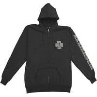 Rammstein Men's  Logo Hoodie Zippered Hooded Sweatshirt Black