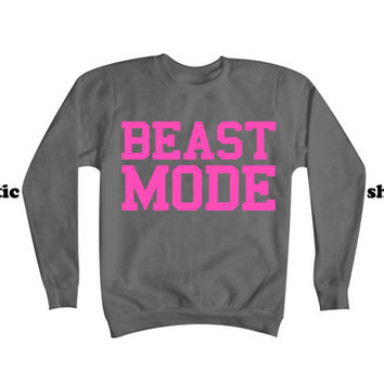 Beast Mode Sweatshirt | Workout Sweater | Fitness Clothing