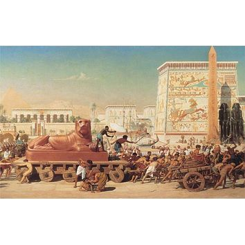 Israelites In Egypt Home Wall Decor Print - Realistic Oil Painting Printed On Canvas
