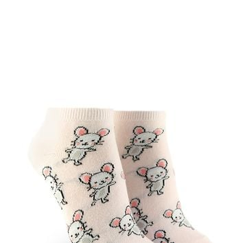 Mouse Graphic Ankle Socks