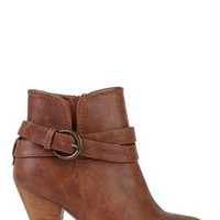 Short Western Bootie with Buckled Strap