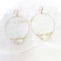 Hoop Full Of Dreams Crystal & Gold Earrings