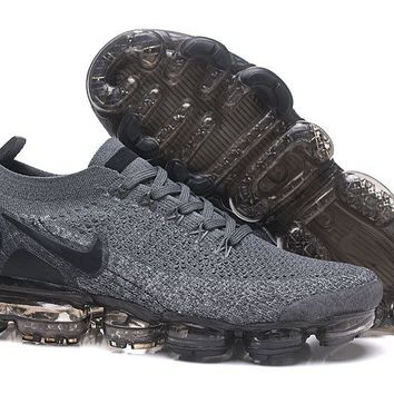HCXX N326 Nike Air Vapormax Flyknit 2 Casual Running Shoes Grey Black