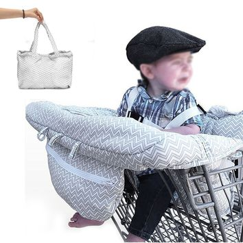 Baby Kids Shopping Cart Cushion Trolley Pad Baby Shopping Push Cart Protection Cover Baby Chair