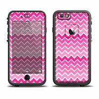 The Pink & White Ombre Chevron V2 Pattern Apple iPhone 6 LifeProof Fre Case Skin Set