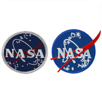 Lot 2 NASA Meatball Insignia Logo Embroidered Iron On Patch, 2 Pack Deal