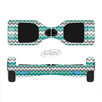The Vintage Green & White Chevron Pattern V4 Full-Body Skin Set for the Smart Drifting SuperCharged iiRov HoverBoard