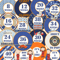 16 Coast Guard Military Homeland Security Pride Coastal Nautical Pregnancy Maternity Baby Bump New Mom to Be Baby Shower Gift Stickers